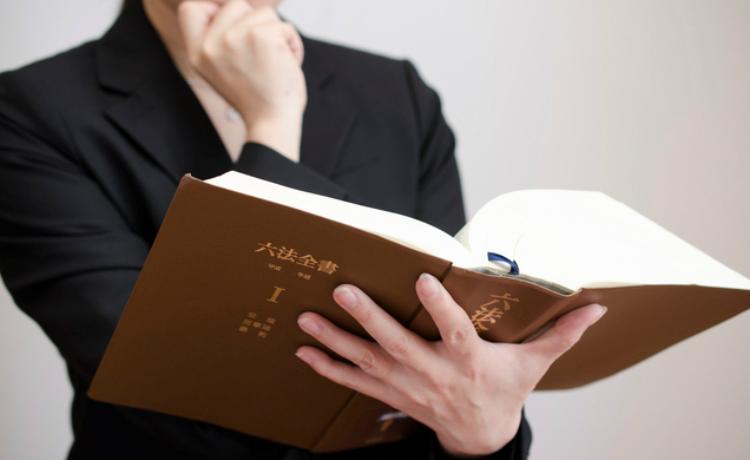 法律を確認する人