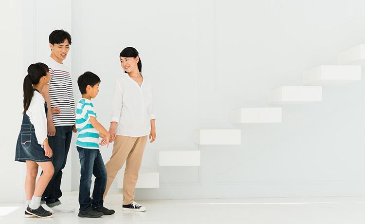ライフプランを考える家族