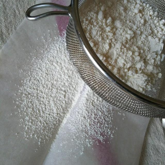 3回振るった小麦粉